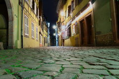 Night Scene. Typical village of Alsace,night scene Royalty Free Stock Photography