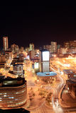 Night scene. Of Durban city, South Africa from a very tall building Stock Photos