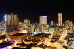 Night scene. Of Durban city, South Africa from a very tall building Royalty Free Stock Images