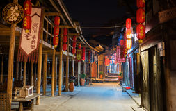 The Night Scene of Ancient Town Stock Photos