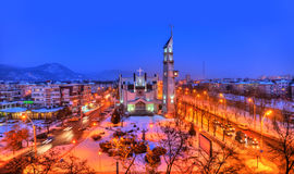 Night scene, Baia Mare city Royalty Free Stock Images
