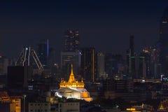 night scene in Bangkok at Chedi Phukhao Thong stock image