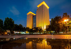 Night scene of Banqiao station Royalty Free Stock Photos