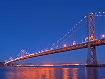 The Night Scene of Bay Bridge Royalty Free Stock Images