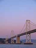 The Night Scene of Bay Bridge Stock Image