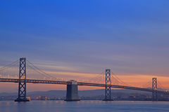 The Night Scene of Bay Bridge Royalty Free Stock Image