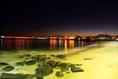 Night scene on beach Royalty Free Stock Image