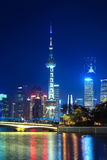Night scene of beautiful shanghai Stock Photos