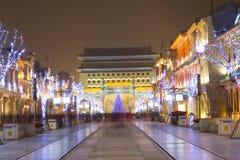 Night scene of Beijing Stock Images