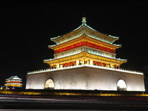 The night scene of The Bell Tower in Xi'an Royalty Free Stock Photography