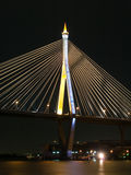 Night scene of Bhumibol Bridge Stock Photo