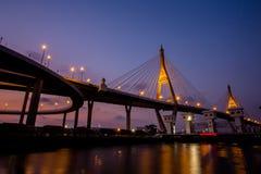 Night Scene Bhumibol Bridge Stock Photos