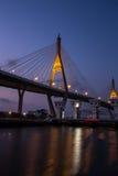 Night Scene Bhumibol Bridge, Thailand Royalty Free Stock Photo