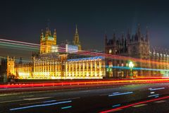 Night Scene of Big Ben and House of Parliament in London Stock Photography