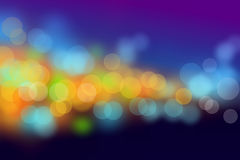 Night scene bokeh blurs background Stock Photo