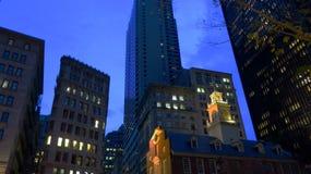 Night Scene in Boston Royalty Free Stock Image