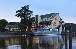A Night Scene in Bowness-on-Windermere Stock Images