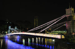 Night Scene of Bridge Royalty Free Stock Image