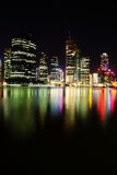 Night scene of Brisbane City, Queensland Stock Photos