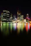 Night scene of Brisbane City, Queensland stock photos