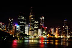 Night scene of Brisbane City, Queensland Stock Image