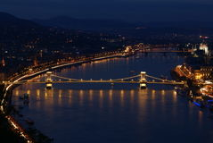 Night scene in Budapest Stock Photo