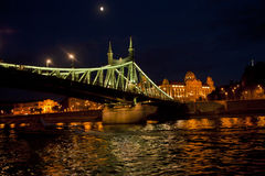 Night Scene in Budapest,Hungary Royalty Free Stock Photos