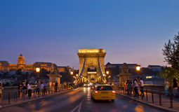 Night Scene in Budapest,Hungary Royalty Free Stock Photography