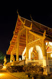 Night Scene of Buddhist Architecture Royalty Free Stock Photo