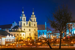 Night Scene Building Of The Cathedral Of Holy Royalty Free Stock Photography