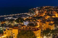 Palma de Mallorca at night Royalty Free Stock Images
