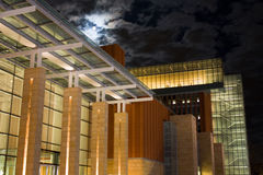 Night Scene of Business School Stock Images