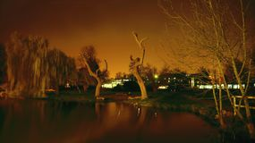 Night scene of Cambridge Stock Photography