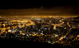 Night scene of Cape Town Stock Image