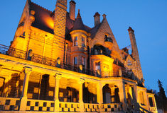 Night scene of castle Stock Photography