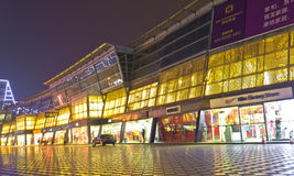 Night scene of century city. Century city is a famous commercial area in the International Convention and Exhibition Centre at the south of chengdu,china.People Stock Photo