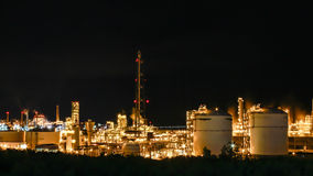 Night scene of chemical plant Stock Image