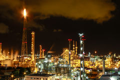 Night scene of chemical plant Royalty Free Stock Image
