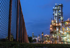 Night scene of chemical plant Royalty Free Stock Photography