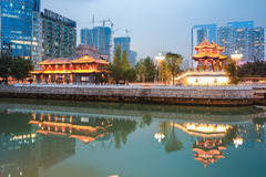 Night scene of chengdu Stock Images