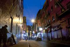 Night scene in China town New York City Stock Images