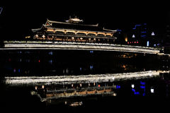 The Night scene of Chinese ancient town of Taining Stock Photos