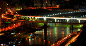 Night scene of Chongqing royalty free stock photography