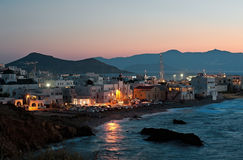 Night scene of Chora, Naxos, Greece 2 Royalty Free Stock Images