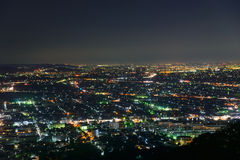 Night scene of cities of Atsugi and Ebina Royalty Free Stock Photo