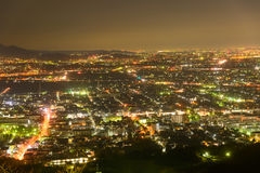 Night scene of cities of Atsugi and Ebina Royalty Free Stock Image