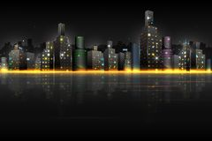 Night Scene of City Stock Images