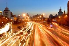 Night scene of city Stock Image