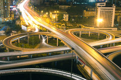 Night scene of city overpass Royalty Free Stock Images