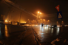 Night scene in the city Stock Photo